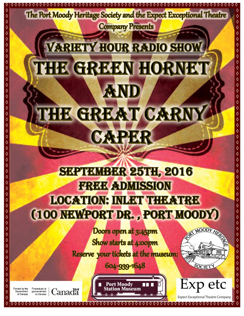Green Hornet Radio Show Poster Final